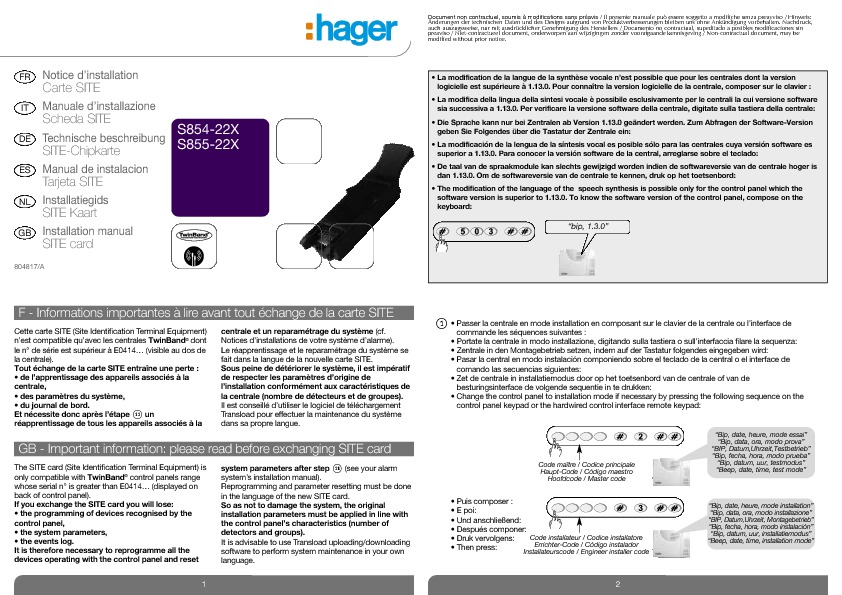 http://www.hager.fr/files/download/0/7121_1/0/804817_A_Inst_CarteSite_Hag_S854_5_22X.pdf