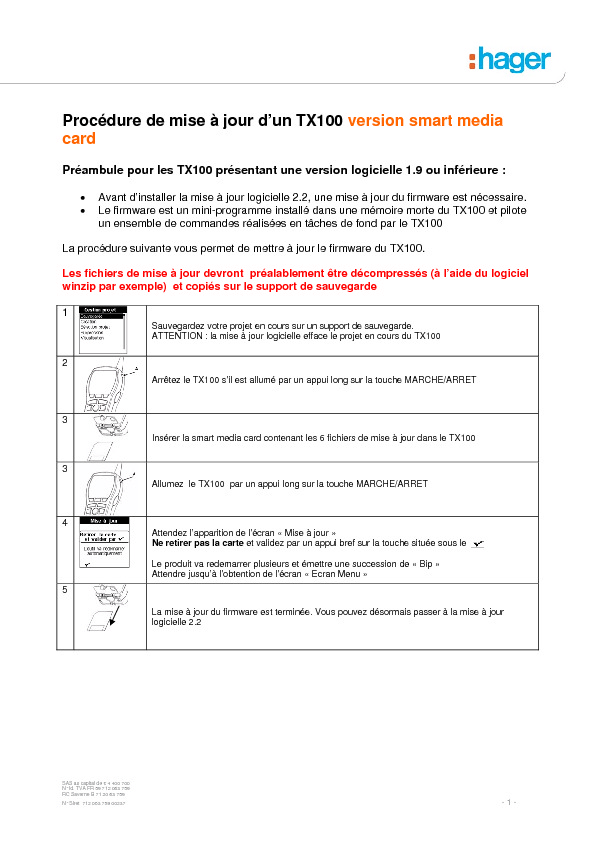 http://www.hager.fr/files/download/0/6025_1/0/MAJ_TX100_Procedure_SM.pdf