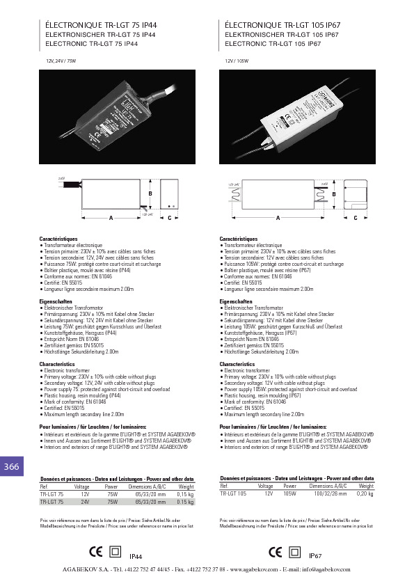 http://www.agabekov-lighting.com/upload/products/pdfs/TR-LGT_75.pdf