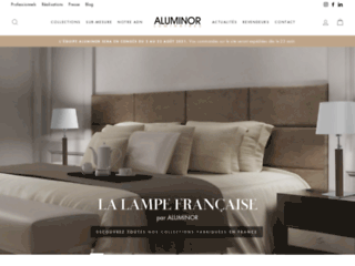 Aperçu du site http://www.aluminor.fr/