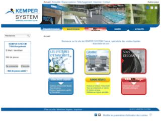 Aperçu du site http://www.kemper-system.fr/