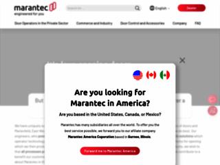 Aperçu du site http://www.marantec.com/