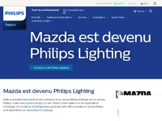 Aperçu du site http://www.mazdaeclairage.com/