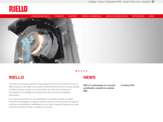 Aperçu du site http://www.riello.fr/