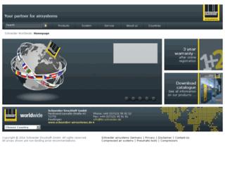 Aperçu du site http://www.schneider-druckluft.com/