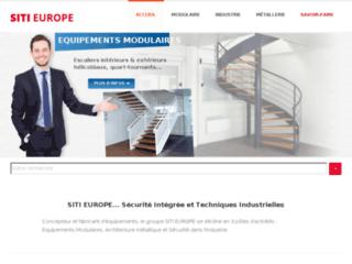 Aperçu du site http://www.sitieurope.com/