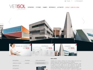 Aperçu du site http://www.vetisol.com/